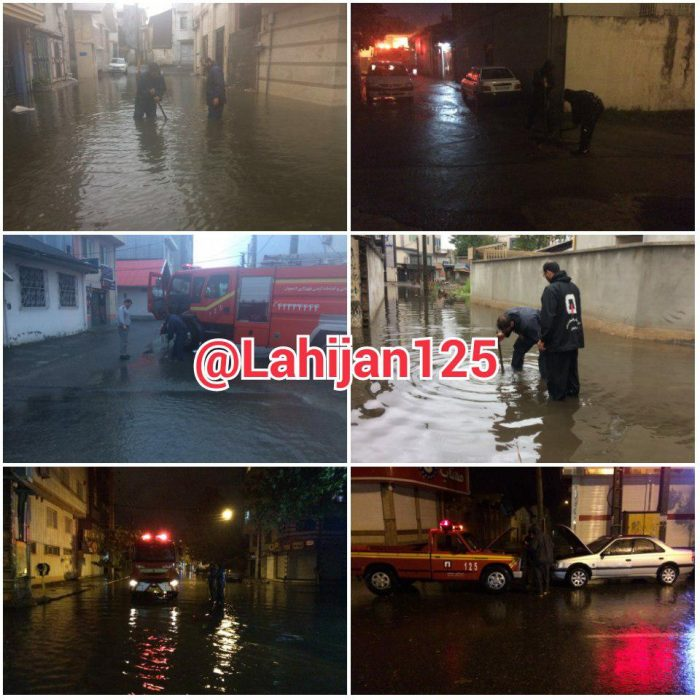 ۲۸۰ مورد عملیات امداد در آبگرفتگی توسط آتش نشانان لاهیجان