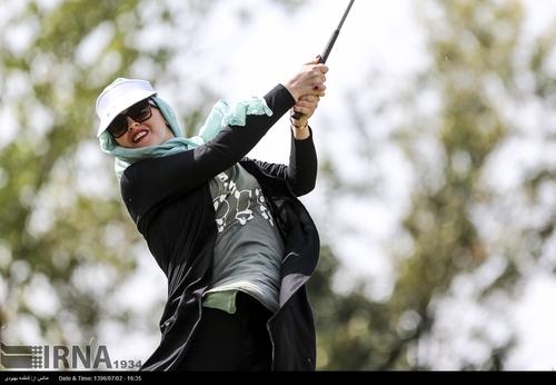 گزارش تصویری مسابقات گلف زنان در تهران