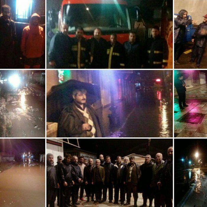تقدیر از شهردار و پرسنل شهرداری آستانهاشرفیه برای کمکردن خسارات و مهار آبگرفتگی