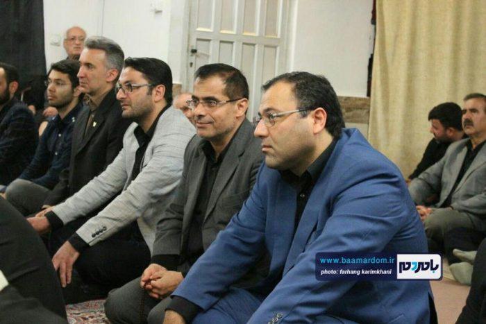 حضور جمعی از دانشگاهیان لاهیجان در مراسم عزاداری حضرت اباعبدالله الحسین در بیت نماینده ولی فقیه در گیلان