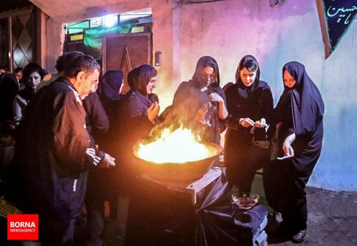 شمع های چهل منبر در سوگ امام حسین(ع) در لاهیجان