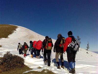 کوهنوردان پیشکسوت استان گیلان به قله برزکوه