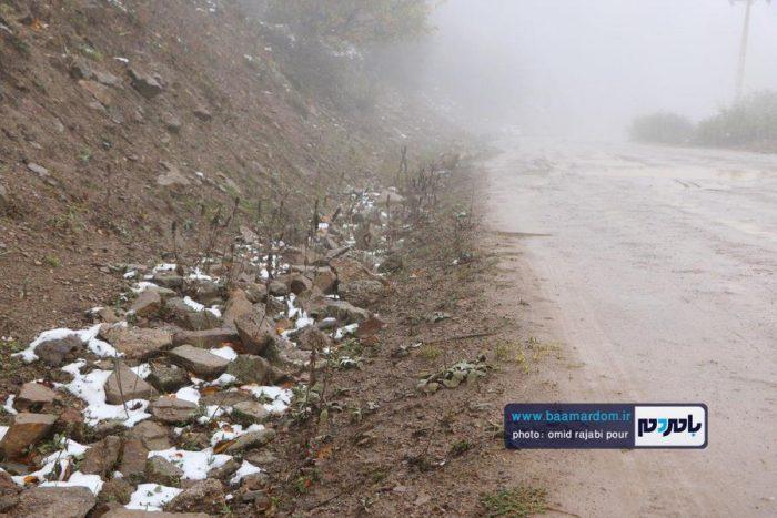 نخستین برف پاییزی در اشکور گیلان | گزارش تصویری