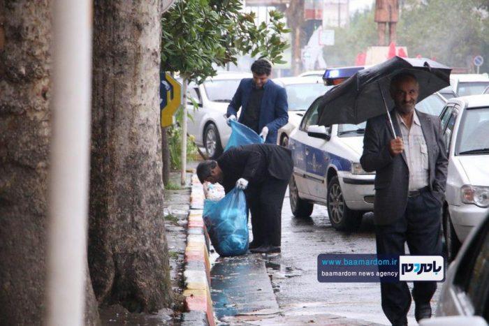 پاکسازی خیابانهای آستانه اشرفیه از زباله | گزارش تصویری