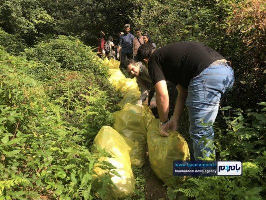 پاکسازی مسیرهای منتهی به بام سبز لاهیجان از زباله 19 533x400 - پاکسازی مسیرهای منتهی به بام سبز لاهیجان از زباله | گزارش تصویری