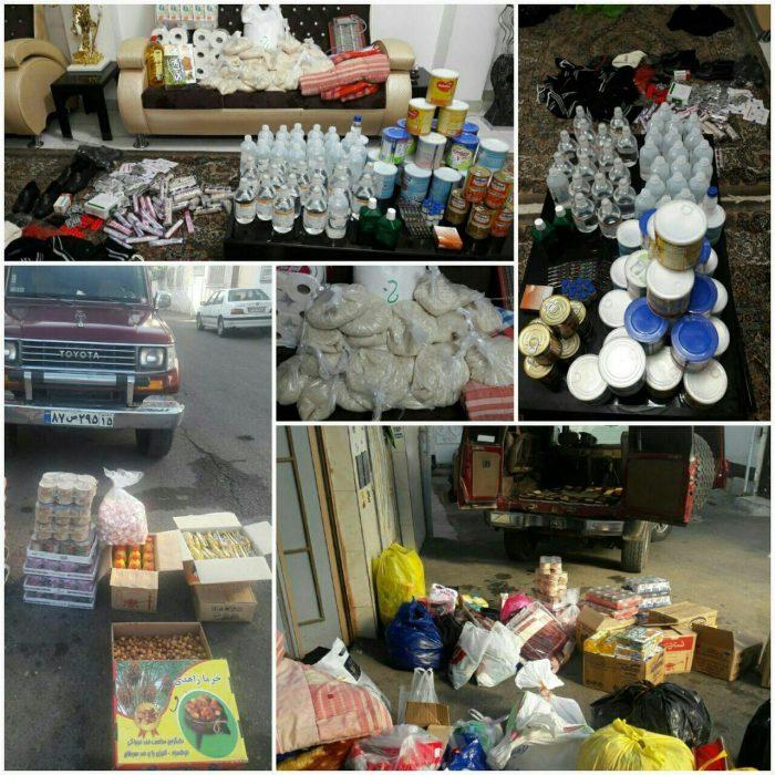 ارسال کمکهای پزشکی، دارویی، خوراکی برای زلزله زدگان کرمانشاه