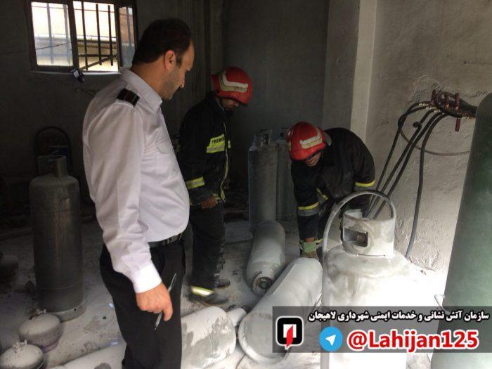 انفجار یک مغازه سیلندر پر کنی گاز در لاهیجان