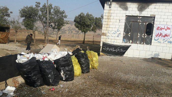 جمعآوری زبالههای مسیر حرکت زائرین اربعین حسینی در ایلام
