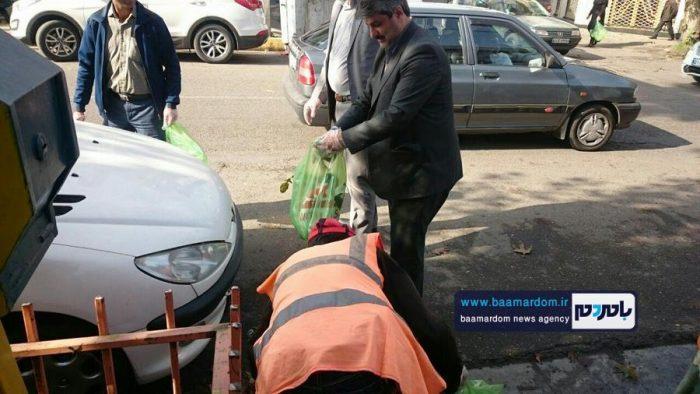 جمعآوری زبالههای سطح شهر آستانهاشرفیه + تصاویر