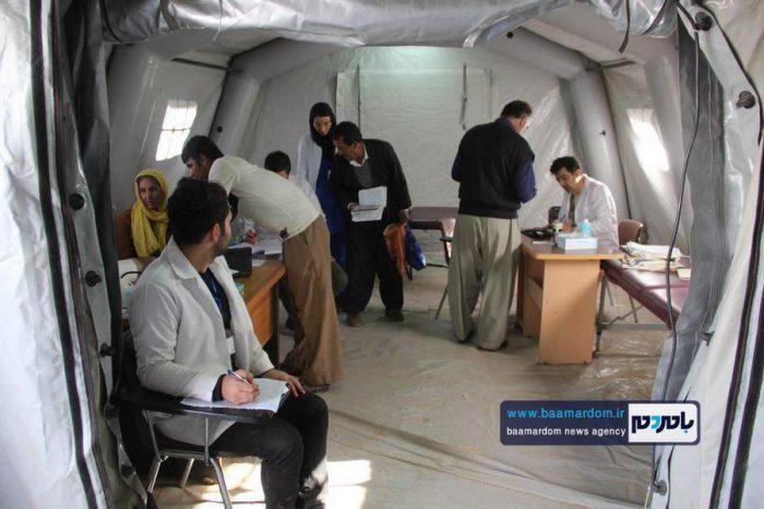 حضور تیم اعزامی دانشگاه علوم پزشکی گیلان در بیمارستان صحرایی ثلاث کرمانشاه + عکس و فیلم