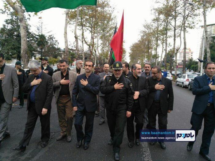 دسته سوگواری نیروهای انتظامی شهرستان لاهیجان برگزار شد + تصاویر