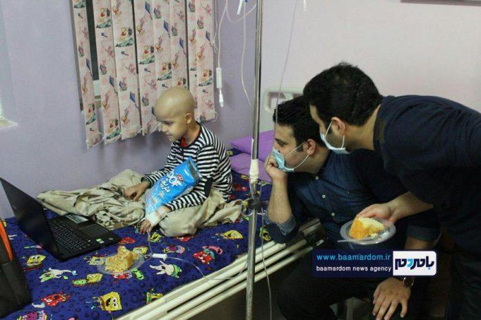 دیدار جمعی از اعضای گروه خیریه نارون با کودکان سرطانی بیمارستان ۱۷ شهریور رشت + تصاویر