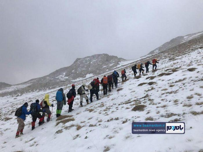 صعود کوهنوردان هیات کوهنوردی لنگرود به قله سماموس + تصاویر