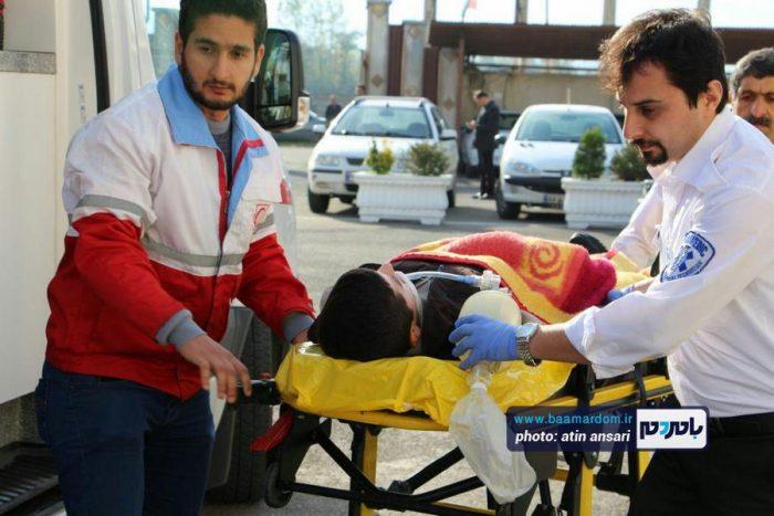 مانور سراسری آمادگی مقابل زلزله در لاهیجان | گزارش تصویری