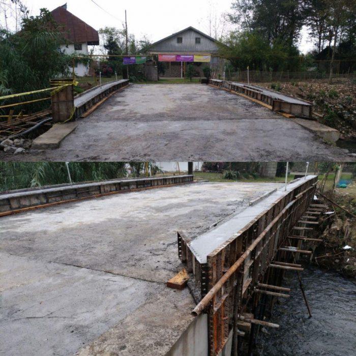 مراحل پایانی احداث پل روستای حاج سلیم محله بخش رودبنه شهرستان لاهیجان + عکس