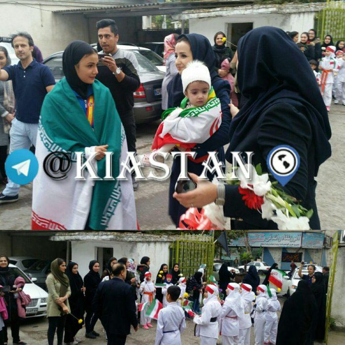 مراسم استقبال از بانوان افتخار آفرین کاراته جهان در آستانه اشرفیه برگزار شد + عکس