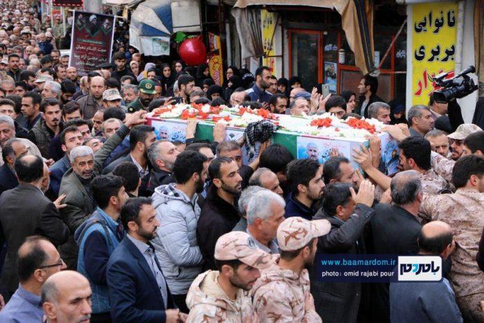 مراسم تشییع پیکر شهید مدافع حرم در رودسر   گزارش تصویری