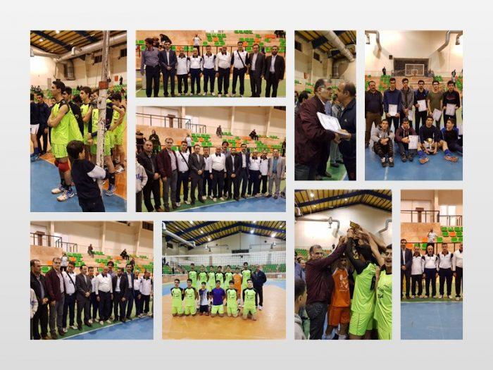 مسابقات چهار جانبه والیبال آقایان در لاهیجان برگزار شد + تصاویر