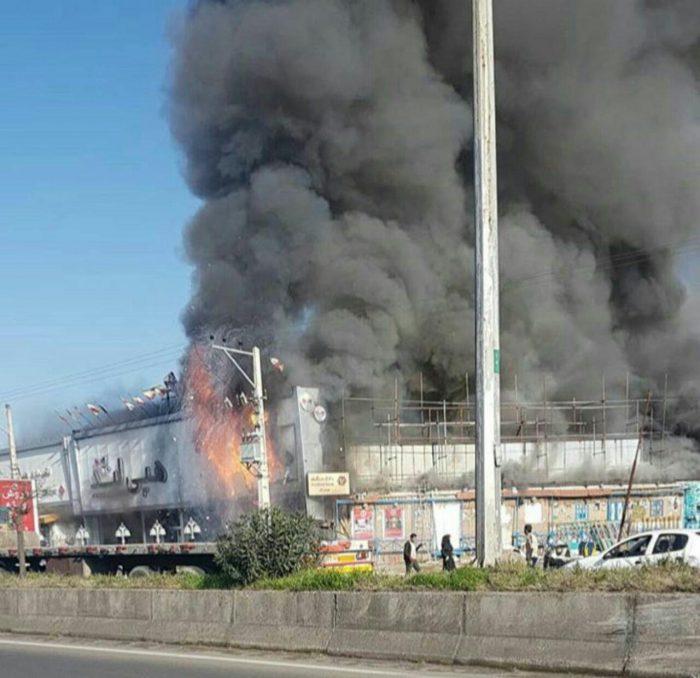 آتشسوزی شدیددر فروشگاه هپی لند واقع در جاده انزلی – رشت