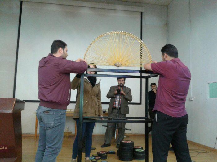 برگزاری مسابقات دانشجویی سازه های ماکارونی در آستارا