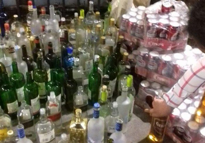 منهدم شدن کارگاه تولید مشروبات الکلی در لاهیجان