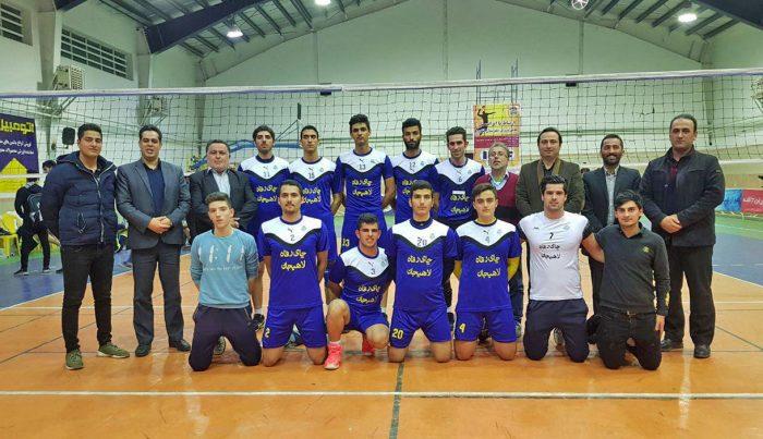 پیروزی مقتدرانه هیات والیبال لاهیجان مقابل تیم میزبان (شهرداری لنگرود)