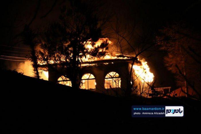 گزارش تصویری آتش سوزی یک بقعه در لاهیجان