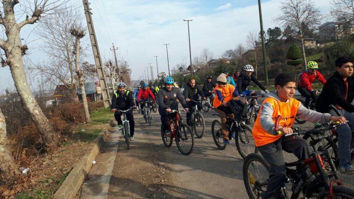 برگزاری تور دوچرخه سواری پیمایش بناهای تاریخی سیاهکل + تصاویر