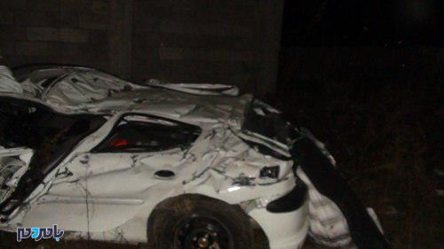 جان باختن ۳ نفر در واژگونی سواری پژو ۲۰۶ در مسیر تالش به آستارا