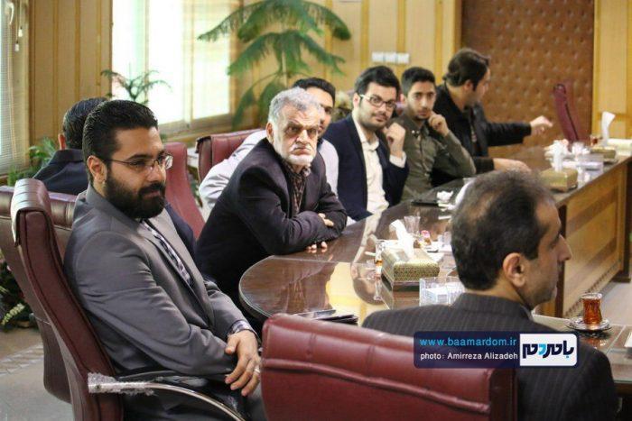 دیدار جمعی از اصحاب رسانه شهرستان لاهیجان با فرماندار رشت | تصاویر