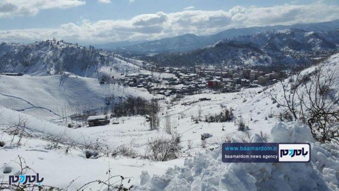 زیباییهای منطقه هفتپیچ لاهیجان پس از بارش اولین برف زمستانی