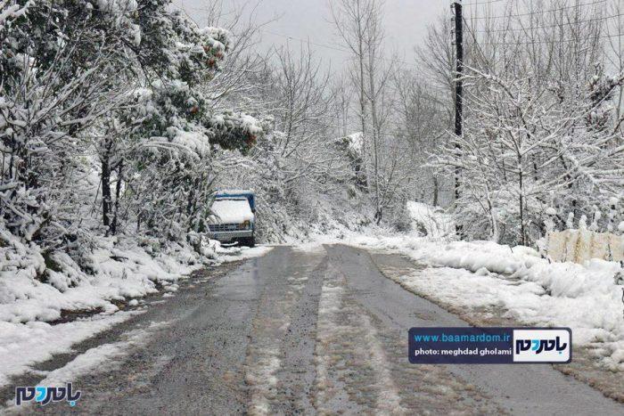 سفید پوش شدن برخی روستاهای رحیم آباد رودسر + تصاویر