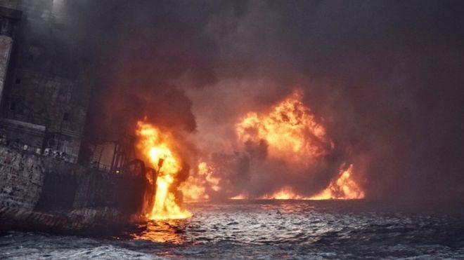 فیلم | اولین تصاویر از کشتی سانچی در اعماق دریا
