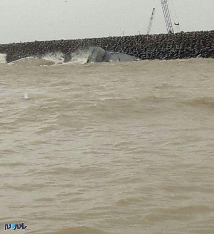 غرق شدن ناوشکن دماوند در اب های دریای کاسپین انزلی+فیلم و عکس