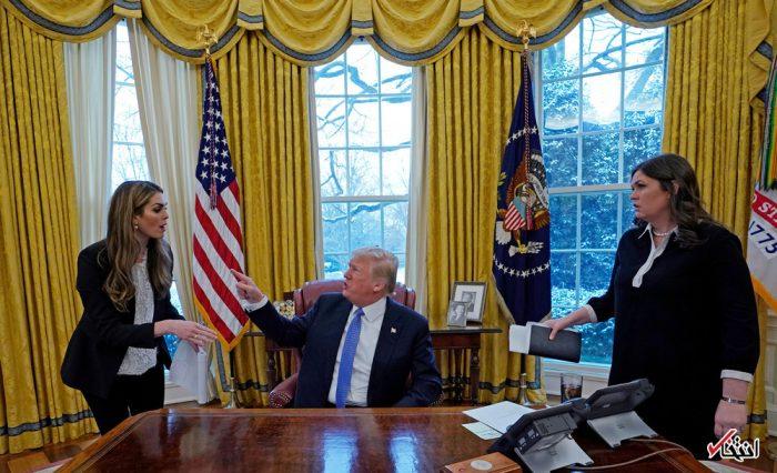 لحظه مشاجره ترامپ با مدیر ارتباطات کاخ سفید + عکس