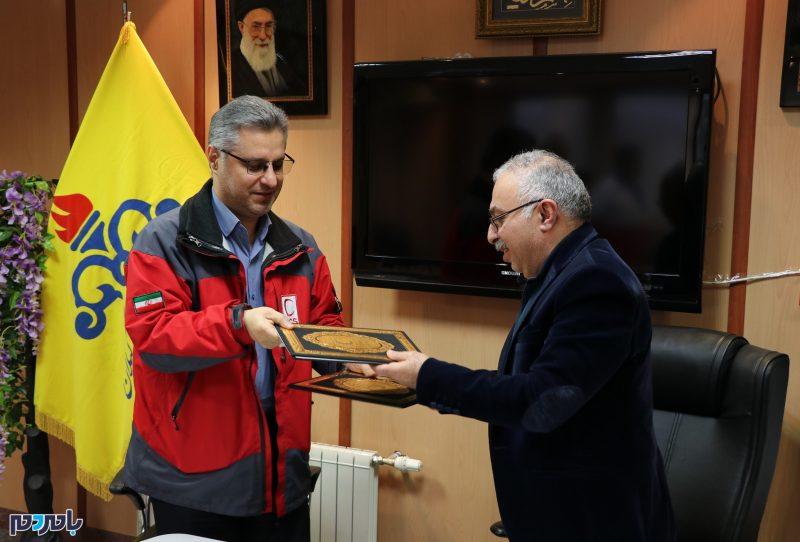 انعقاد تفاهم نامه همکاری میان شرکت گاز و هلال احمر استان گیلان + تصاویر