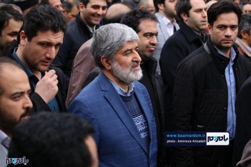 حضور علی مطهری و ابوذر ندیمی در راهپیمایی ۲۲ بهمن لاهیجان + تصاویر