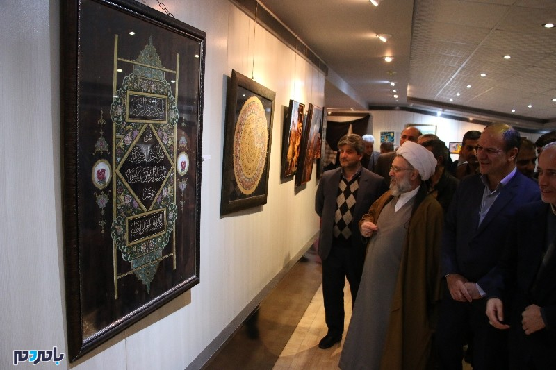 نمایشگاه آثار هنری و تجسمی در نگارخانه ارشاد اسلامی آستانهاشرفیه افتتاح شد + گزارش تصویری