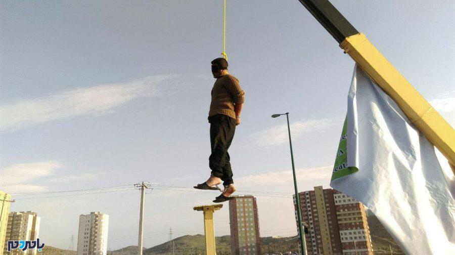 اعدام قاتل اراک با طناب زرد در ملاعام + تصاویر
