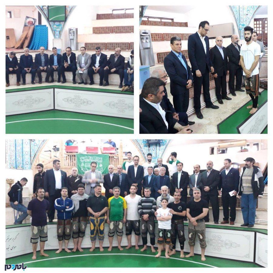 مراسم تجلیل از مرشدان و ورزشکاران زورخانهای لاهیجان برگزار شد