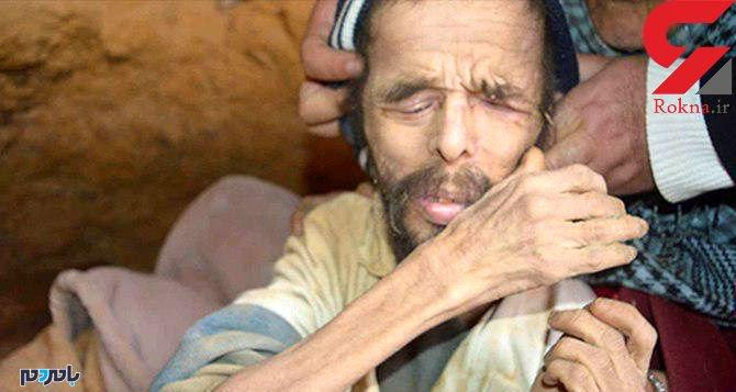 محمد ۱۵ سال غارنشین است ! + عکس