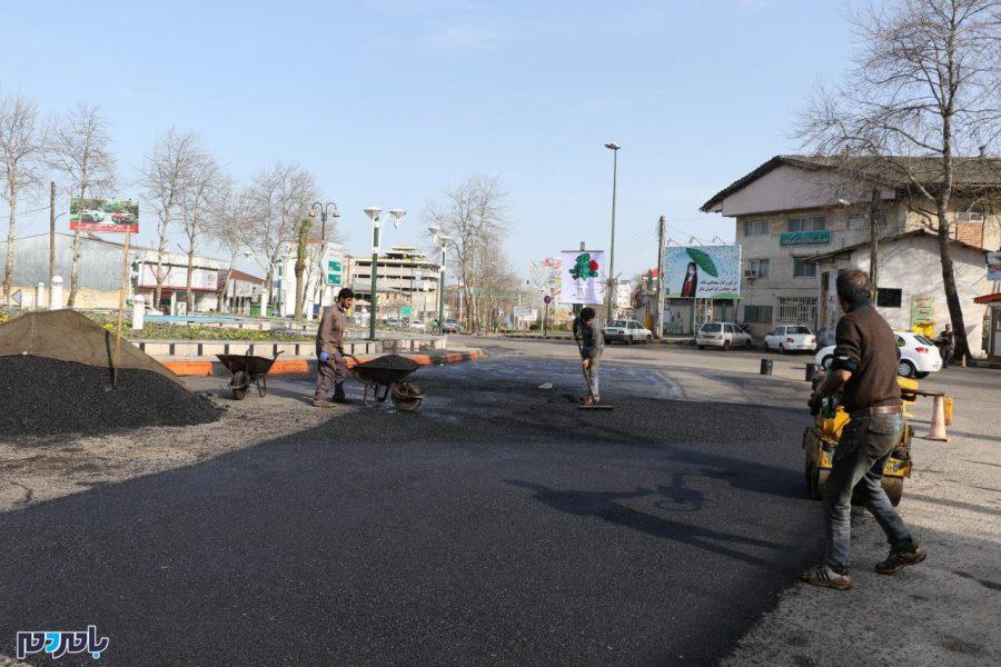 مرمت آسفالت خیابانهای شهر لاهیجان آغاز شد