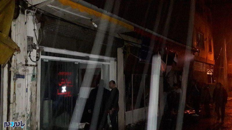 آتشسوزی پنج واحد تجاری در کلاچای + عکس
