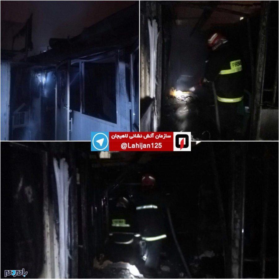 وقوع دو حادثه آتش سوزی در لاهیجان