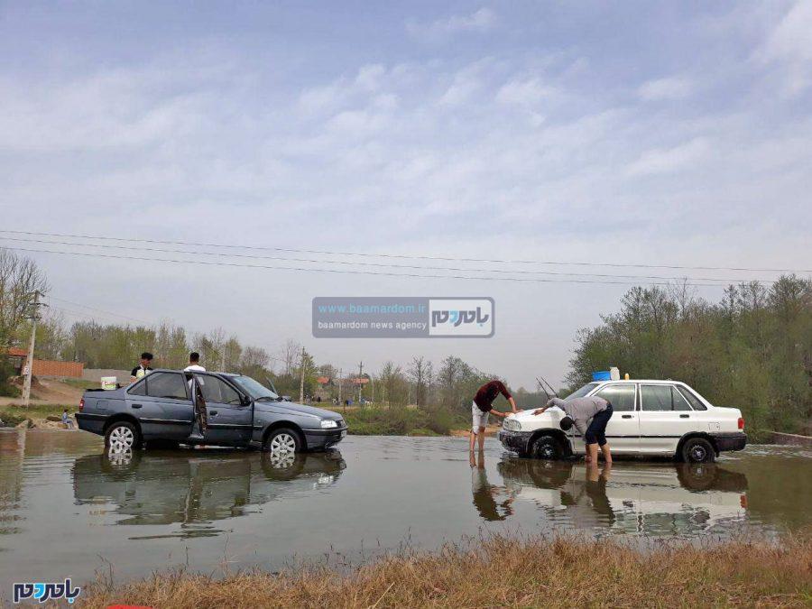 کارواش در رودخانه تموشل لاهیجان در بهار ۹۷!