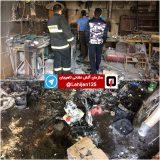 آتشسوزی در کارگاه جوشکاری در لاهیجان | حضور اتفاقی یک آتشنشان در محل حادثه و مهار آتش توسط وی