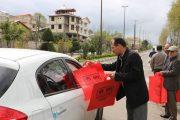 توزیع کیسههای زباله قابل بازیافت توسط شورای شهر و شهرداری سیاهکل + تصاویر