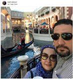 عکس لاکچری خانم بازیگر و همسرش در لاس وگاس