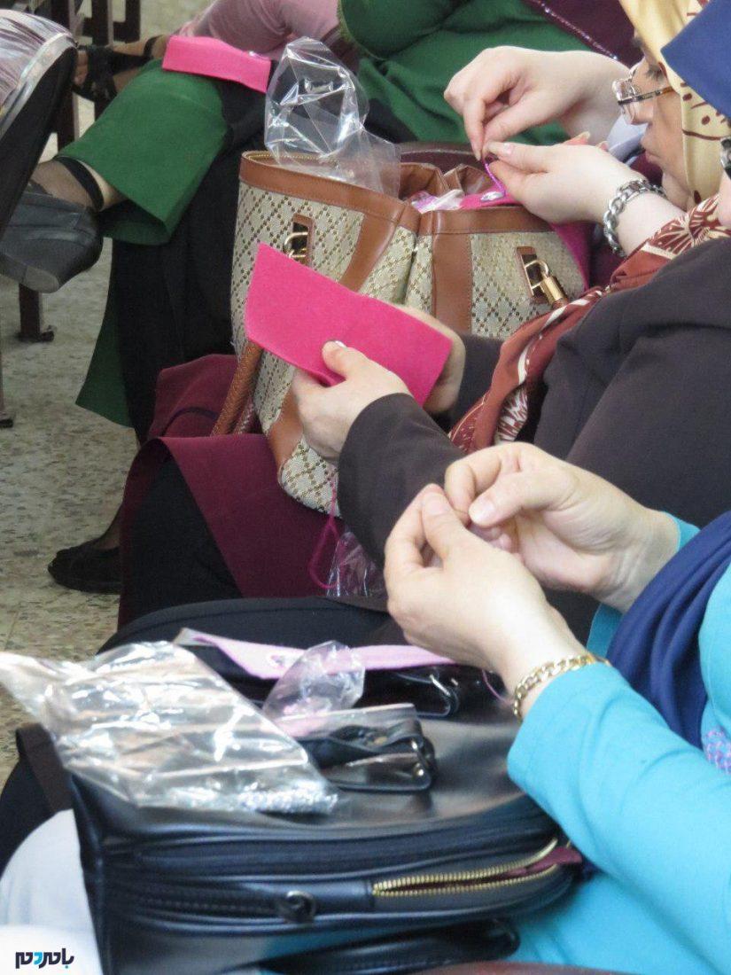 کارگاه آموزشی مرصع دوزی و جواهر دوزی در آستانهاشرفیه برگزار شد + تصاویر