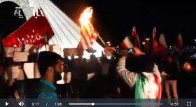 فیلم   بسیجیها متن برجام را در میدان آزادی سوزاندند
